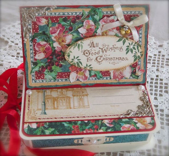 Synnøves Papirverksted: Vintage style giftbox for Christmas