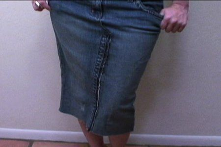 Making a skirt out of an old pair of pants. Sounds like a fun and easy project!
