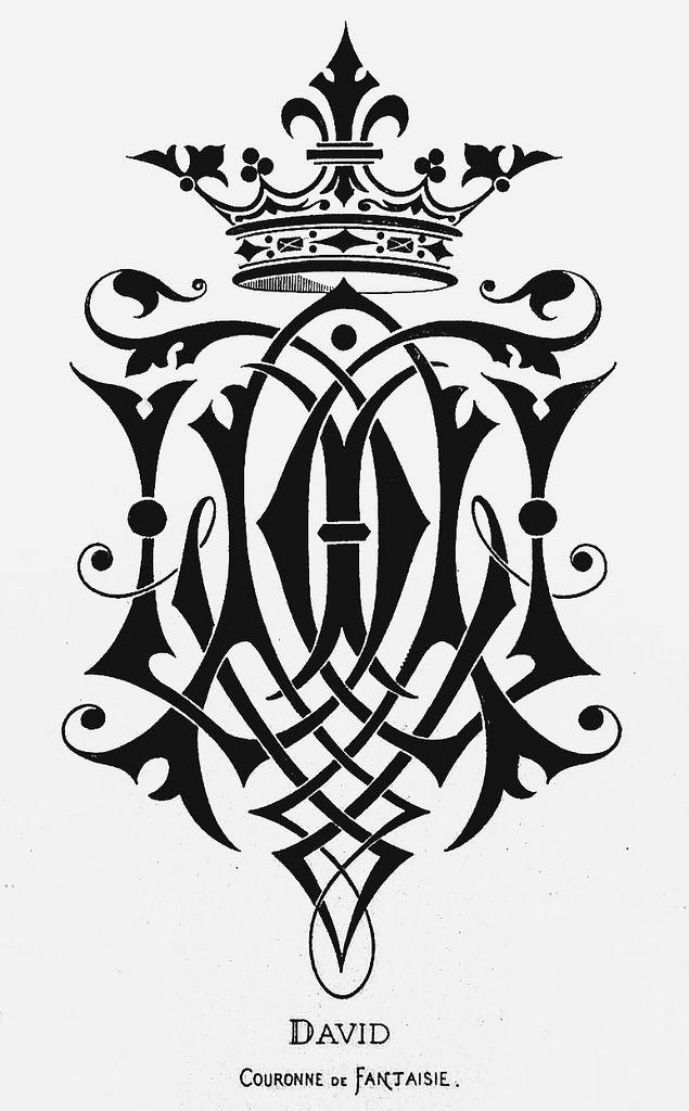 "Monogram ""David"" by Charles Demengeot - 1881"