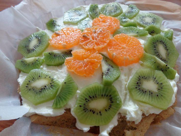 Kiwi Flan / Tarta cu kiwi