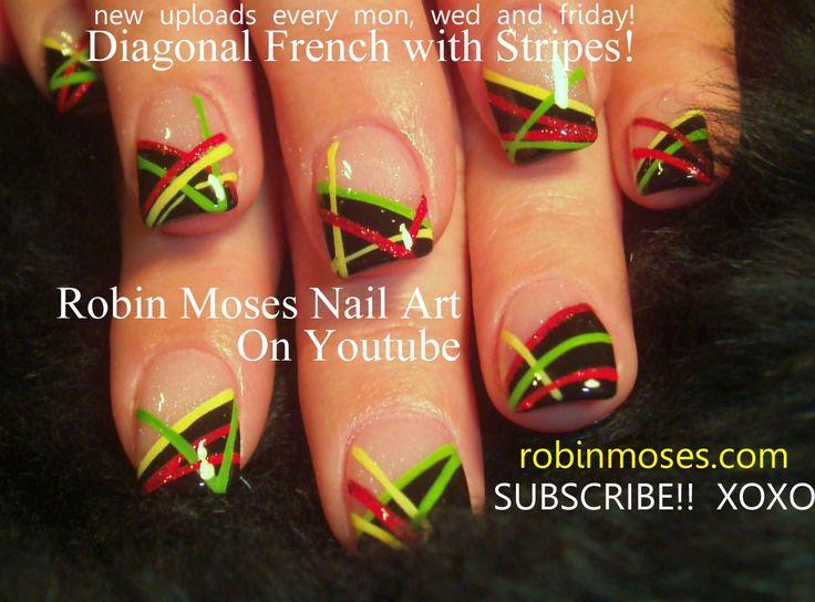 "Robin Moses Nail Art: ""nail art"" ""blue and silver nail art"" ""how to stripe nails"" ""striped nails"" ""gold nail art studs"" ""striped nails"" ""how to stripe nails"" ""how to"" ""striping"" ""nail arts"" how to use a striping brush ""robin moses nail art"" stripes striping bling glitter"