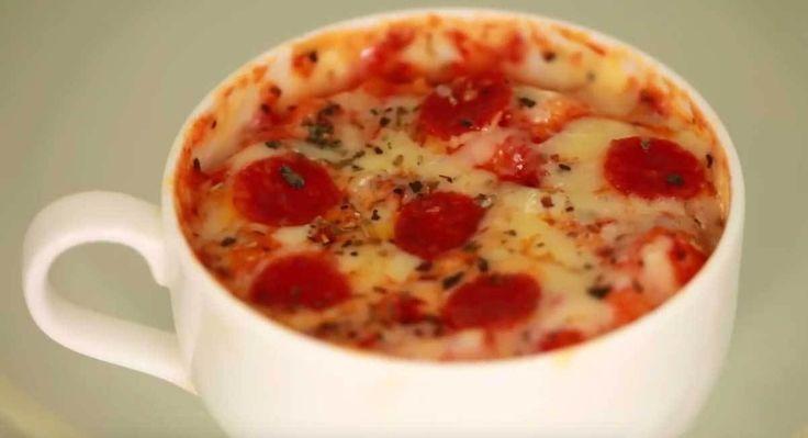 Tassenpizza in 2 Minuten (Tassenpizza)