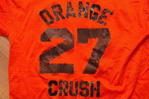 Orange Crush #27 Mesh Jersey, Soda Pop Drink, Vintage 70s-80s, Pride Medalist Company, Football, Hockey, Sports Team Apparel