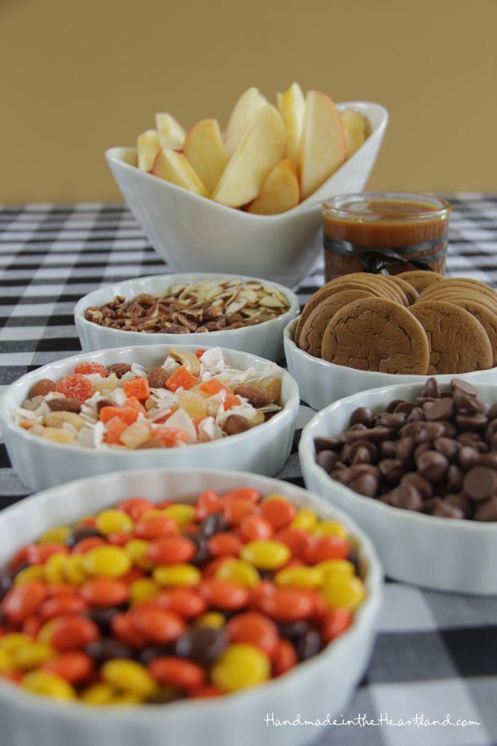 Caramel Apple Sundae Bar. HandmadeintheHeartland.com