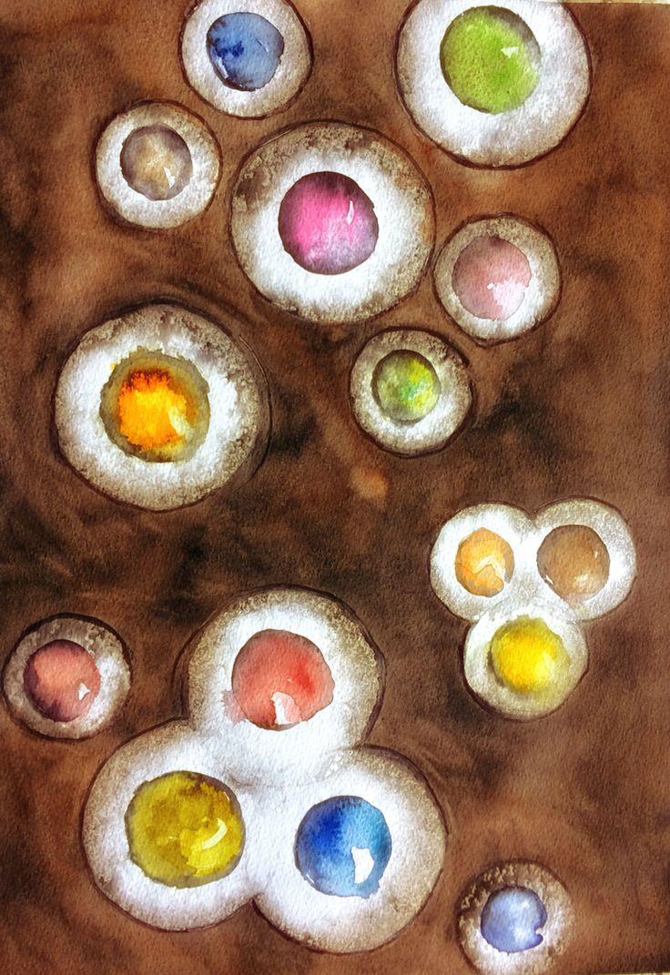 Egg bubbles, my own textile design