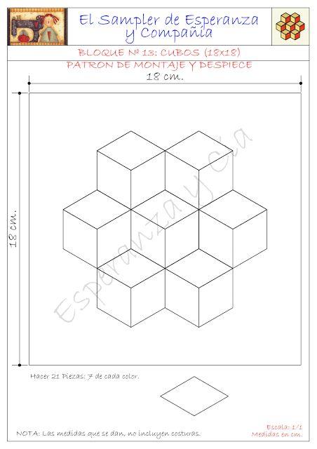 Patrones del Sampler cubos