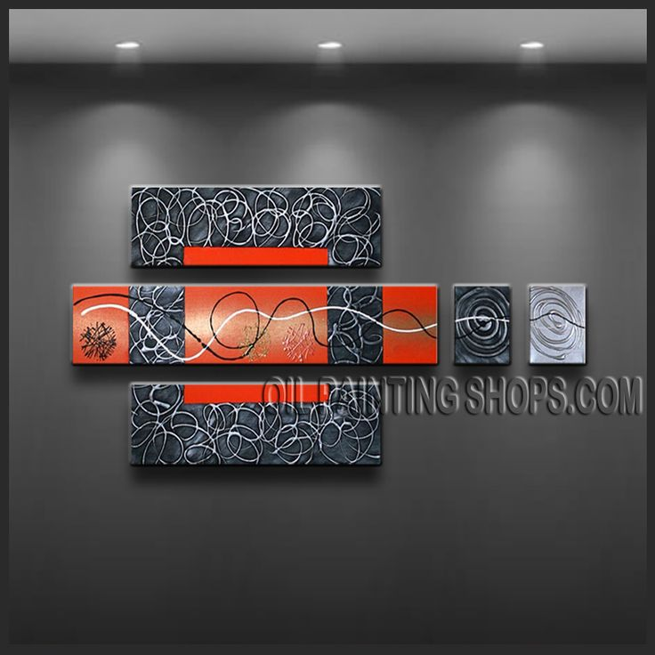 Amazing Contemporary Wall Art High Quality Oil Painting For Living Room Abstract. This 5 panels canvas wall art is hand painted by Kerr.Donald, instock - $172. To see more, visit OilPaintingShops.com