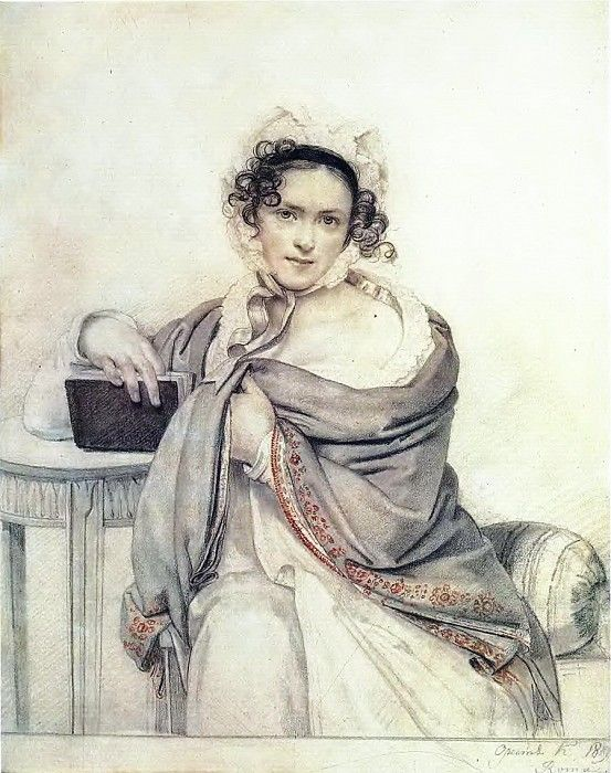 Орест Адамович Кипренский - Портрет С.С. Щербатовой, 1819, ГТГ