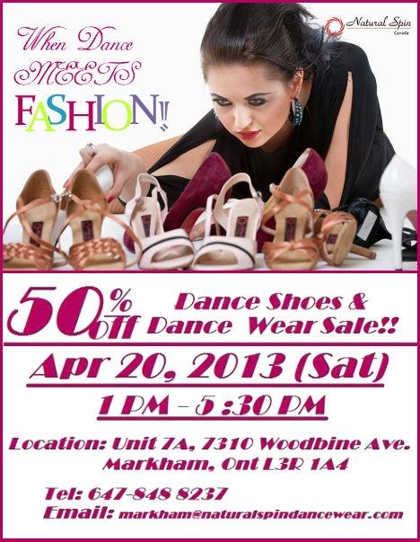 Dance Shoes Half Price Saturday April 20, 2013