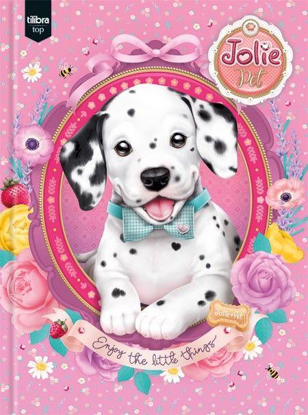 Caderno Brochura Capa Dura Top Universitário Jolie Pet - 96 Folhas