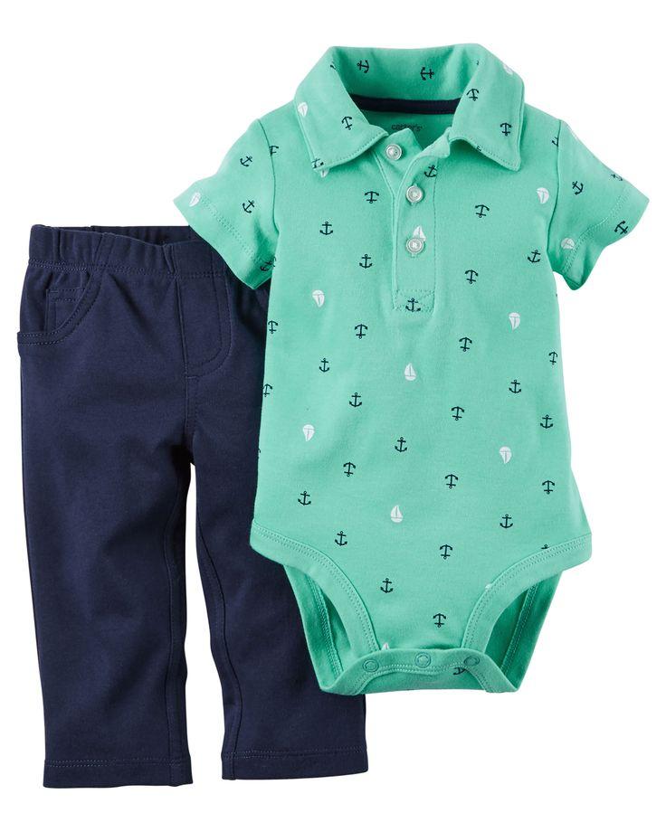 Ensemble 2 pièces cache-couche et pantalon pour bébés garçons   Carter's OshKosh Canada