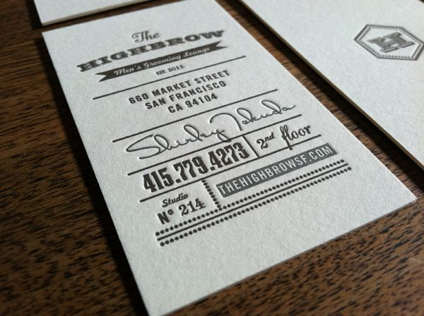 141 best graphics business cards images on pinterest business letterpress business cards for the highbrow were printed on 220lb cranes lettra printed by studio on reheart Choice Image