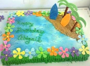 Luau party cake recipes