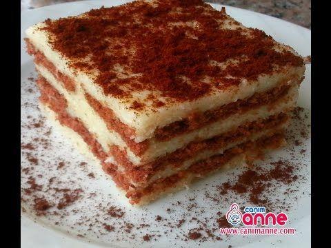 Yalancı Tavuk Göğsü ile Bisküvili Pasta Yapımı - YouTube