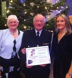 Kerry volunteer, Charlie Harnett, was presented with a certificate by Lord Mayor of Dublin Naoise Ó Muirí tonight after being shortlisted for an Education and Training Award at the Volunteer Ireland Awards 2012.
