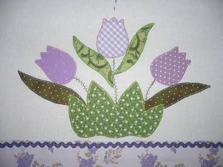 Resultado de imagem para patchwork tulipas