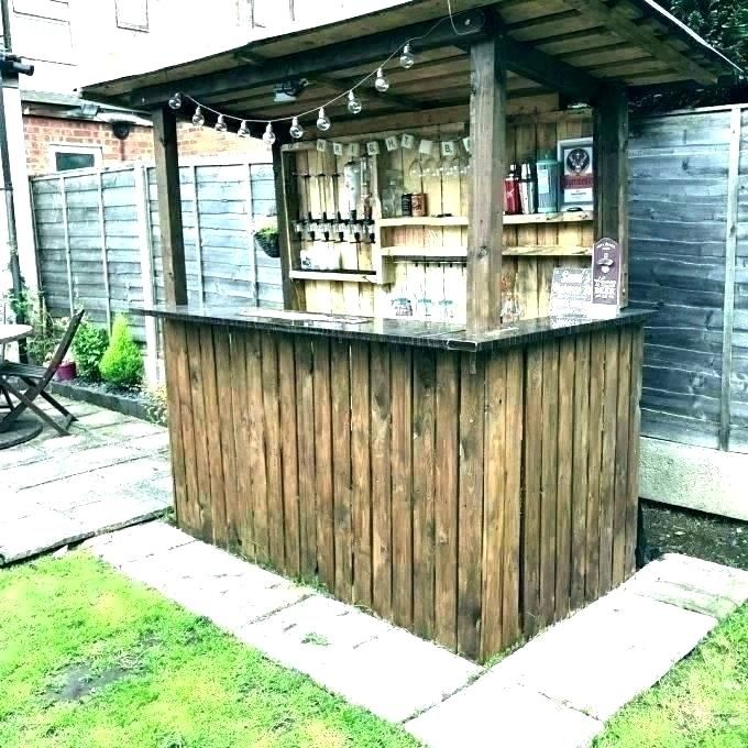 Covered Bar Made From Old Pallets Google Search With Images