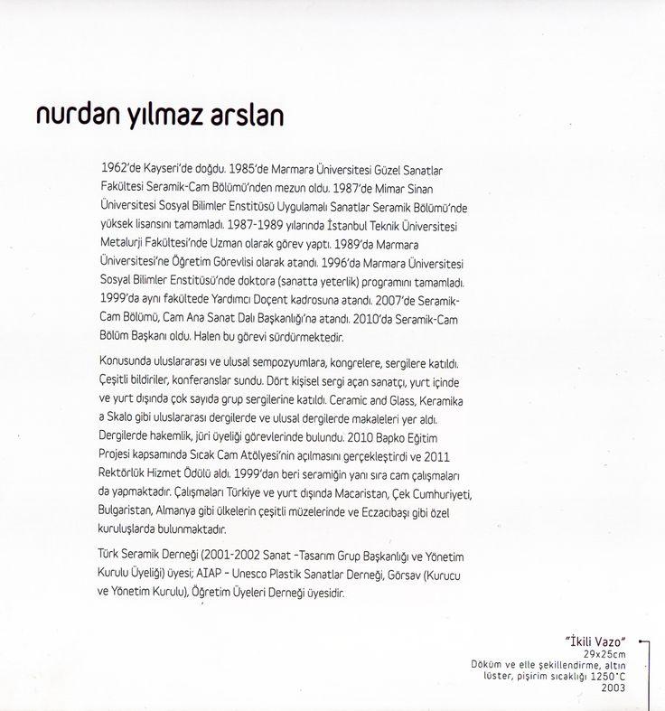 """Nurdan Yılmaz Aslan""""ZAMANIN İZİNDE"""" Çağdaş Seramik Sergisi, 2012 (Erdinç Bakla archive)"""