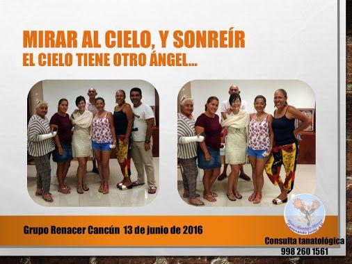 El Día del Padre cuando ha fallecido tu hijo, deja de ser un día de fiesta comercial para convertirse en una fecha emocionalmente exigente.  Grupo Renacer Cancún, un espacio para todos los que transitamos el mismo camino, en donde aprendemos a vivir, mirar al cielo y sonreír , a pesar de… El cielo tiene otro ángel! Así cerró nuestra reunión de este lunes 13 de junio. Con una sonrisa al cielo. ¿Quieres saber más sobre el tema?: http://www.renacercancun.com/blog/ Consulta tanatológica 998 260