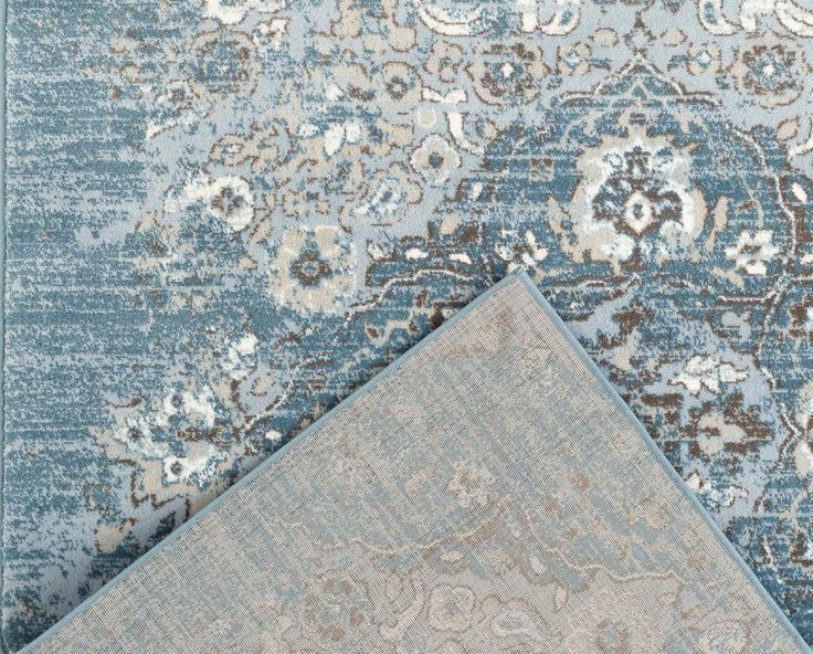 2046 Blue Distressed Oriental Area Rugs