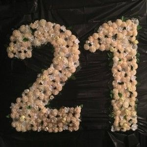 21st Birthday Catering - Salt & Chilli Catering Adelaide #21stbirthday #birthday #numbers #21st