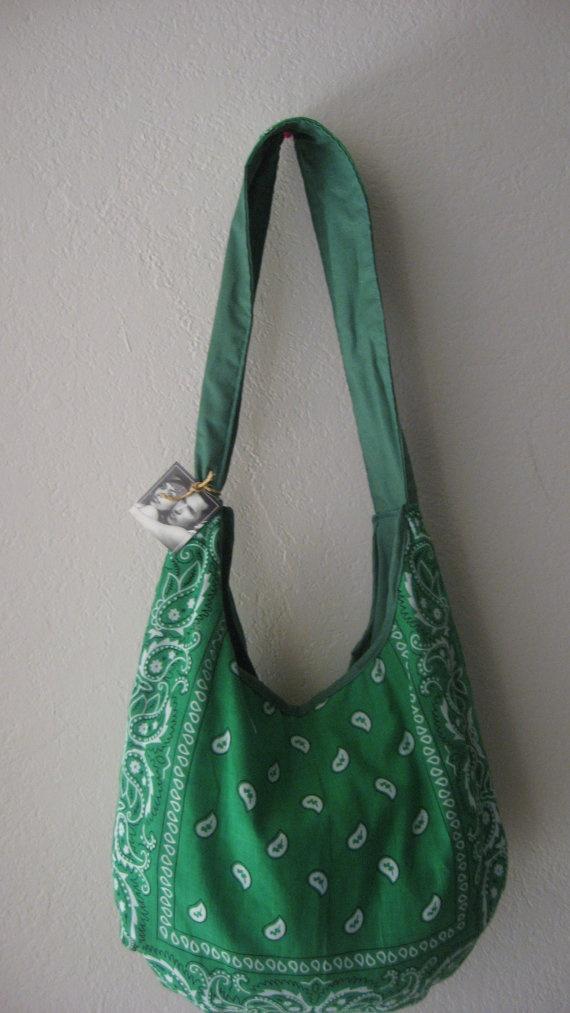 Green Bandana Purse by BandannaCraze on Etsy, $12.00
