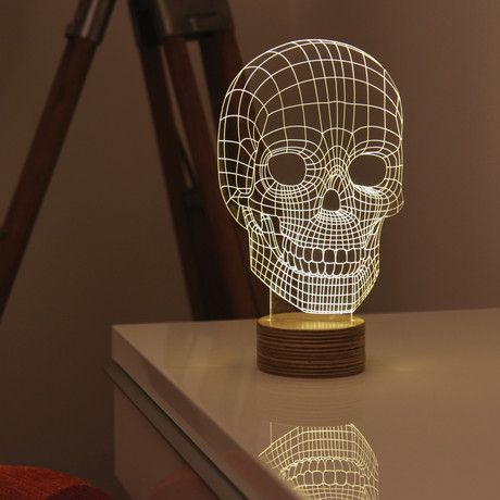These optical illusion LED lights use cutting edge u2014 and eco-friendly u2014 technology and & 36 best skulls images on Pinterest | Skulls Sugar cookies and ... azcodes.com
