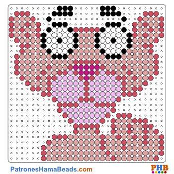 Pantera rosa plantillas hama beads web 5c78d