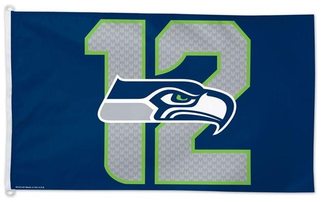 Seattle Seahawks Flag 3x5 12th Man D Rings 12th Man Flag Seattle Seahawks Nfl Seattle