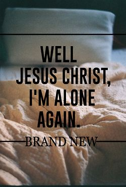 uploads jesus christ Brand New brand new lyrics the devil and god ...