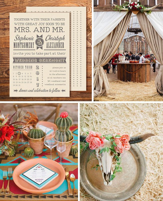 Wedding Inspiration Board Wild West Wedding