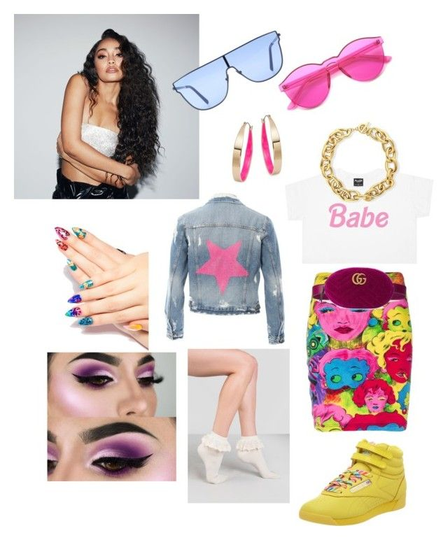 """""""Classic like Reebox!"""" by official-goddess on Polyvore featuring Reebok, Gucci, Design Lab, Hipchik, Laser Kitten, BERRICLE and RetroSuperFuture"""