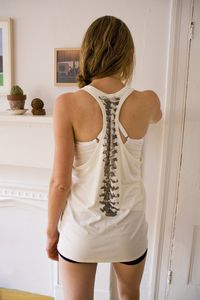 Love the spine on this top!!  Would be perfect to show my scoliosis does not define me:)