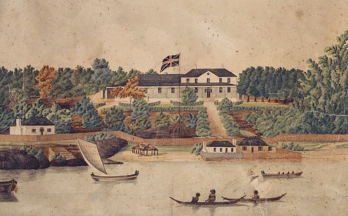 1st government house, sydney 1790's