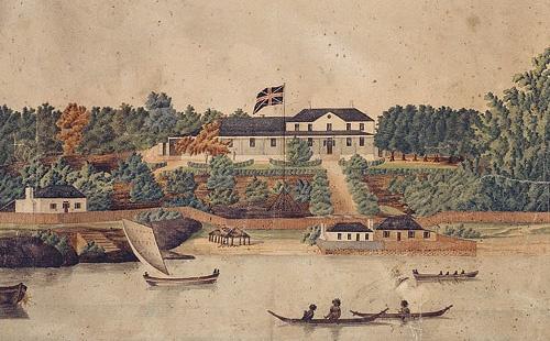 1st government house, sydney 1790's