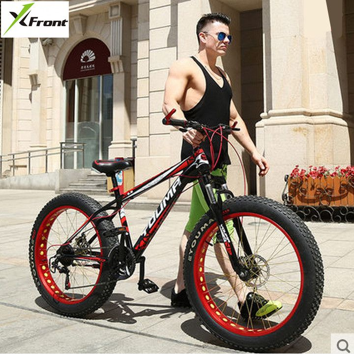 New X Front brand 27 speed 4.0 fat wide tire snow mobile bike cross country downhill beach mountain bicycle travel bicicleta-in Bicycle from Sports & Entertainment on http://ali.pub/1d5wq8