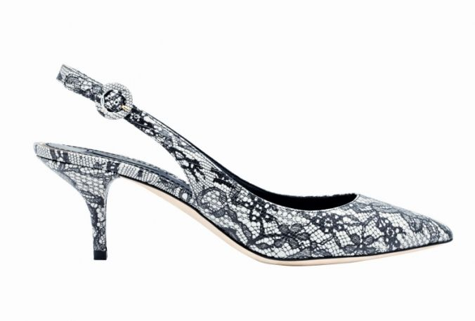 D&G: in pelle stampata pizzo