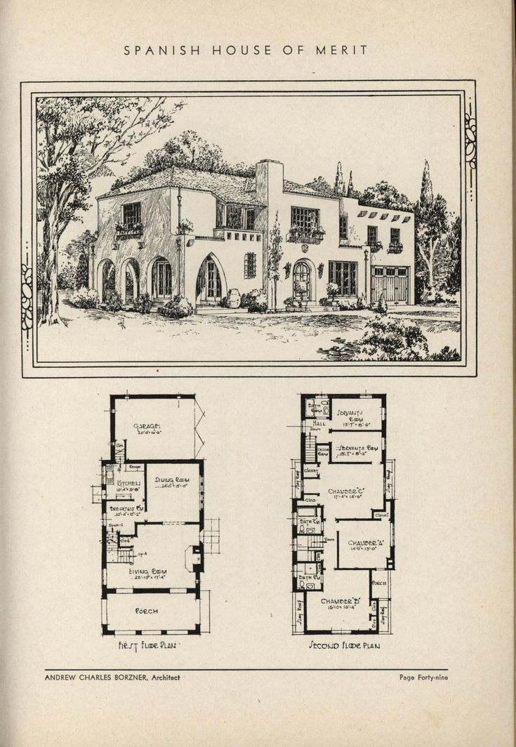 231 best images about historic house plans on pinterest Spanish revival home plans