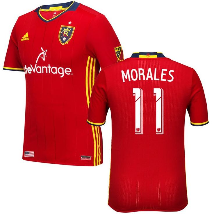 Javier Morales Real Salt Lake adidas 2016/17 Authentic Primary Jersey - Red