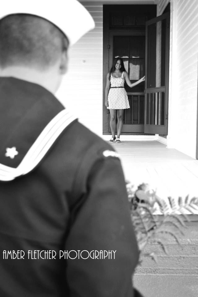 Navy engagement photos