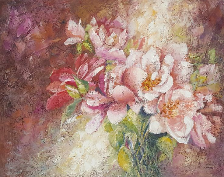 Pink Spring Flowers for Gran 40x50cm   $130