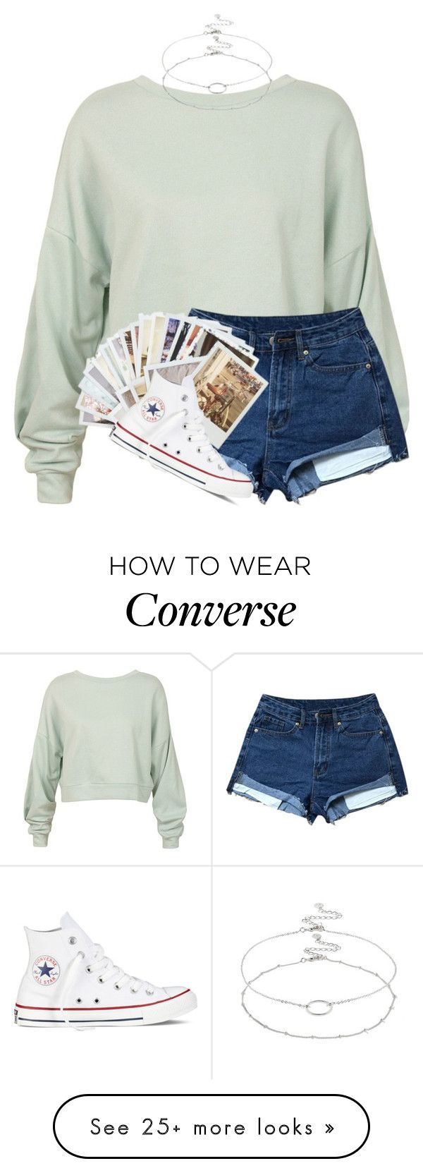 """vacation"" by cait926 on Polyvore featuring Sans Souci, Chronicle Books, Converse and Accessorize"