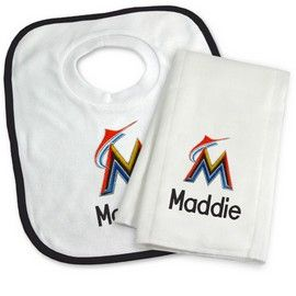 8 best images about miami marlins baby gifts on pinterest big miami marlins personalized bib and burp cloth gift set miami marlins at personalized gifts for babies negle Images