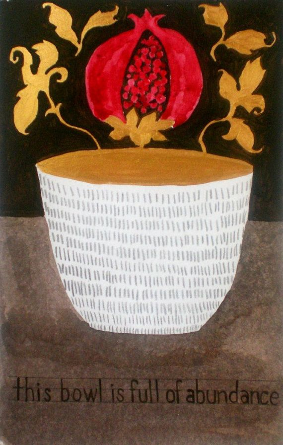 This Bowl is Full of Abundance by rowena murillo