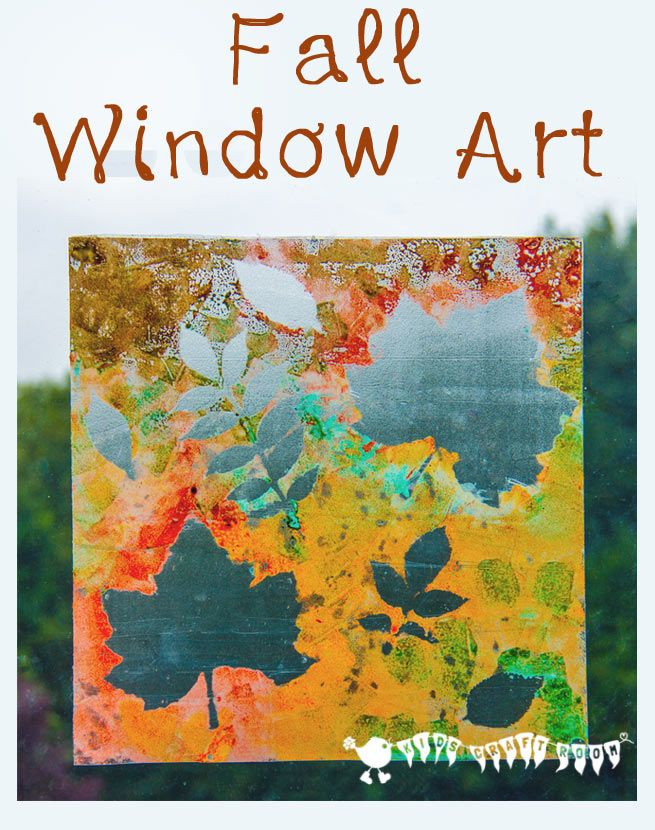 Painted leaf window clings. A lovely Autumn/ Fall art activity for kids that captures the season's magic and brings the beautiful colours inside.