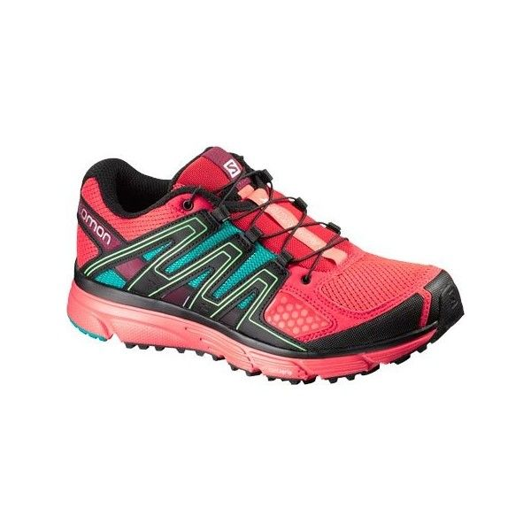 Women's Salomon X-Mission 3 Trail Running Shoe Athletic ($115) ❤ liked on Polyvore featuring shoes, athletic shoes, salomon shoes, breathable mesh shoes, grip shoes, athletic footwear and asymmetric shoes