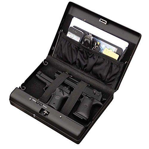 Sourcingbay Fingerprint Pistol Safe Box Gun Vault Jewelry Safe Box Car Home Biometric Keyless - http://reviewslikecrazy.com/gun-safes-for-sale/sourcingbay-fingerprint-pistol-safe-box-gun-vault-jewelry-safe-box-car-home-biometric-keyless/