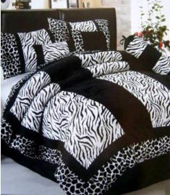 Black & White Zebra Bedding Would like to find blue and Zebra for Nik's room