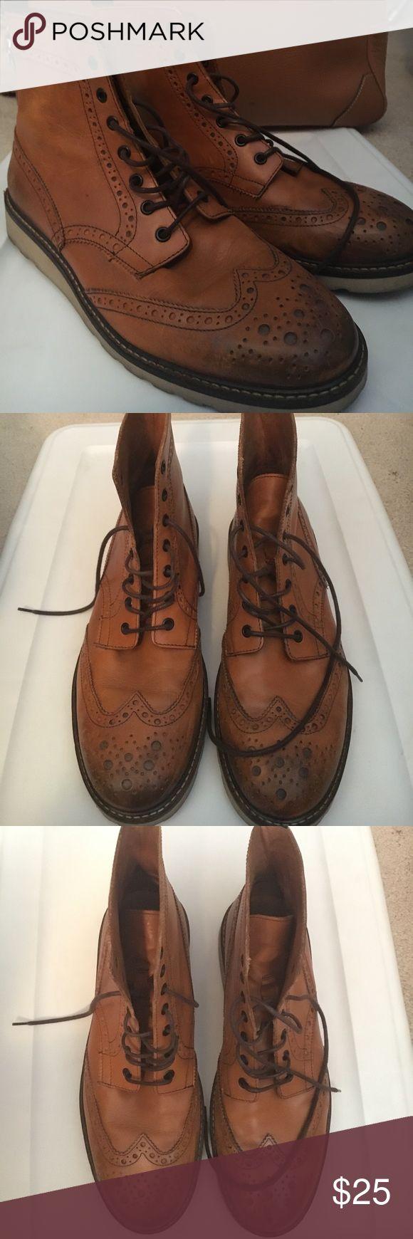 Men's ALDO brown boots sz 11  wingtip boots Men's ALDO boots size 11 brown boots Aldo Shoes Boots