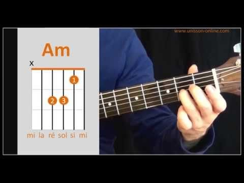 Cours de guitare - Les premiers accords - vidéo N°1 - YouTube